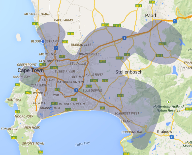 Cape Peninsula Coverage